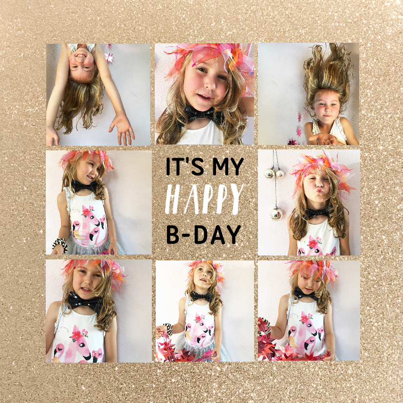 Kinderfeestjes - Kinderfeestje collage glitter