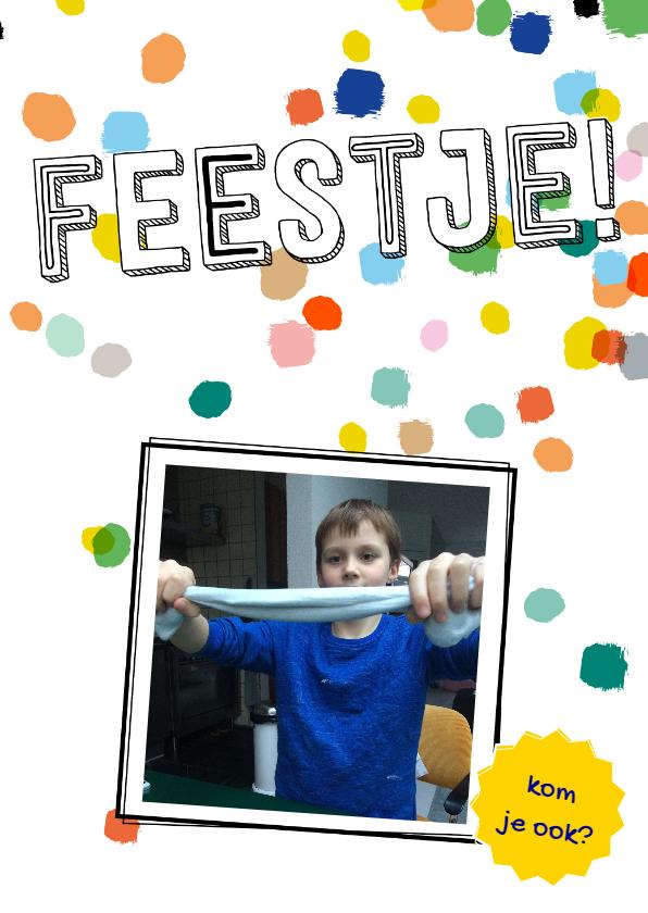 Kinderfeestjes - Kinderfeestje confetti eigen foto