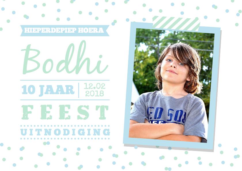 Kinderfeestjes - Kinderfeestje confetti foto jongen