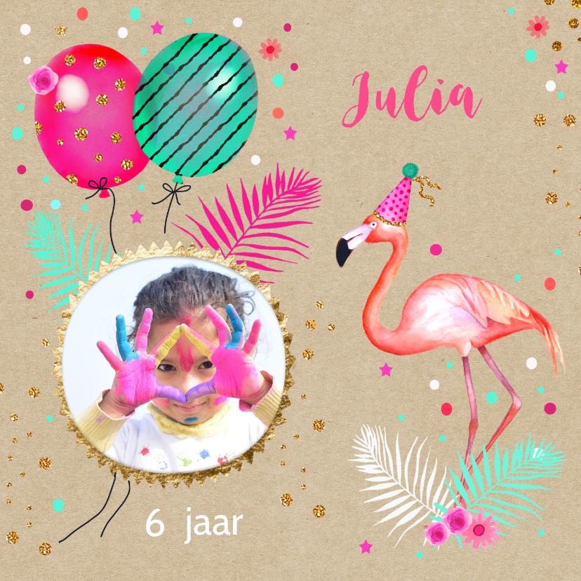Kinderfeestjes - Kinderfeestje flamingo ballonnen