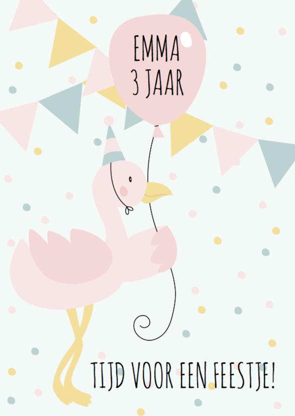 Kinderfeestjes - Kinderfeestje flamingo meisje