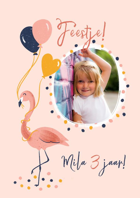 Kinderfeestjes - Kinderfeestje flamingo met ballonnen