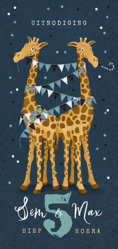 Kinderfeestjes - Kinderfeestje giraf feest tweeling confetti slingers