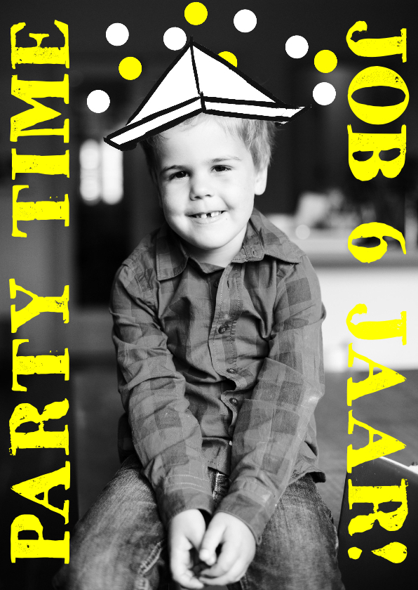 Kinderfeestjes - Kinderfeestje hoedje hip geel