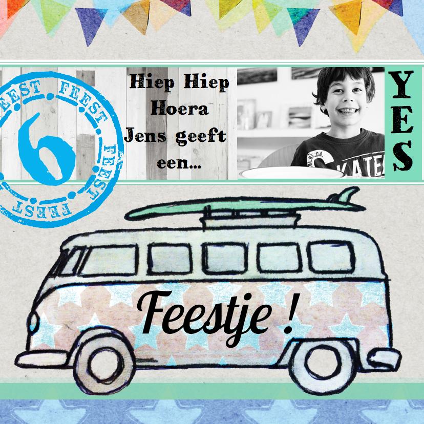 Kinderfeestjes - Kinderfeestje jongen auto bus