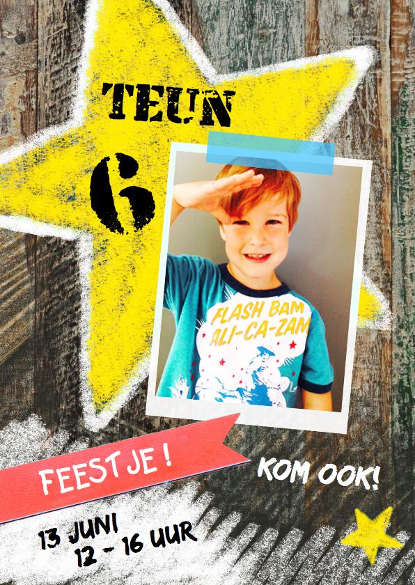 Kinderfeestjes - Kinderfeestje jongen ster foto