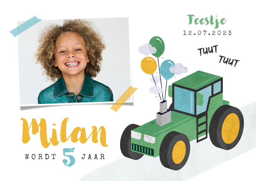 Kinderfeestjes - Kinderfeestje jongen stoer tractor boerderij feest