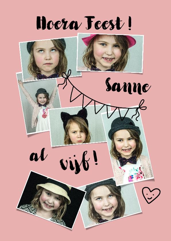 Kinderfeestjes - Kinderfeestje meisje 5 jaar fotocollage