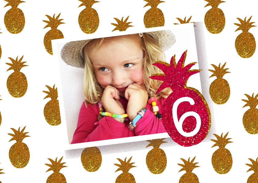 Kinderfeestjes - Kinderfeestje meisje ananas goud