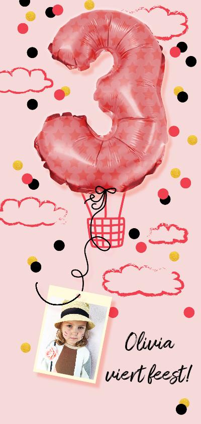 Kinderfeestjes - Kinderfeestje  meisje drie jaar luchtballon