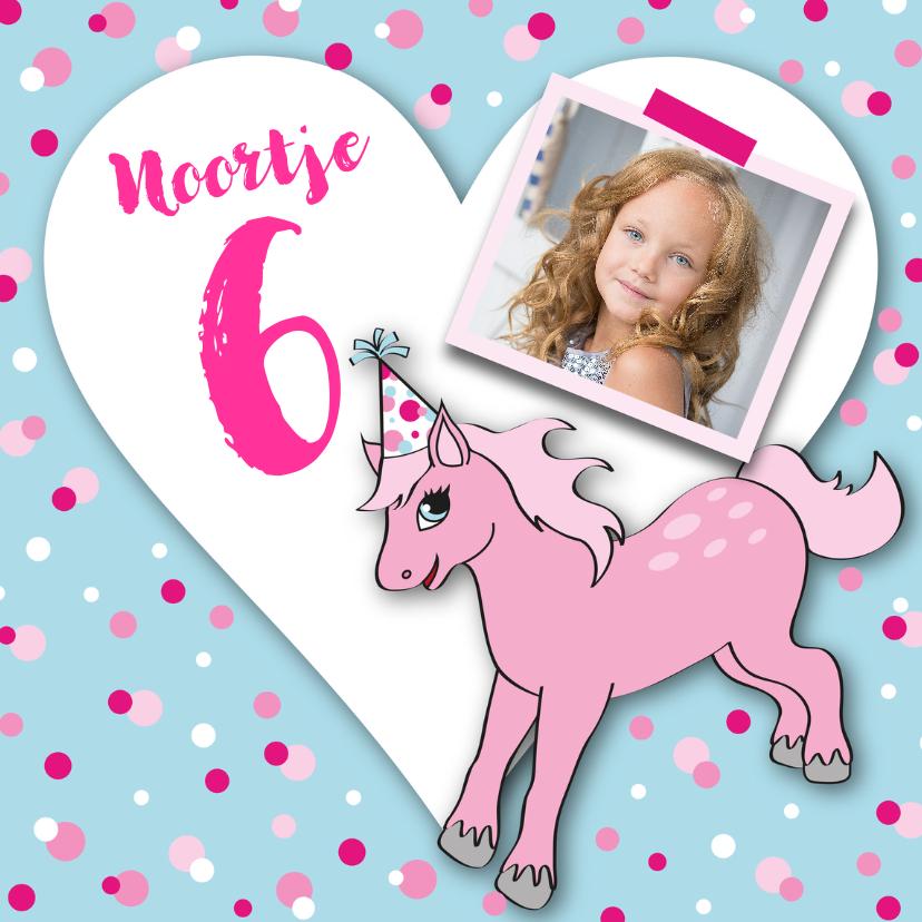Kinderfeestjes - Kinderfeestje meisje pony foto hart