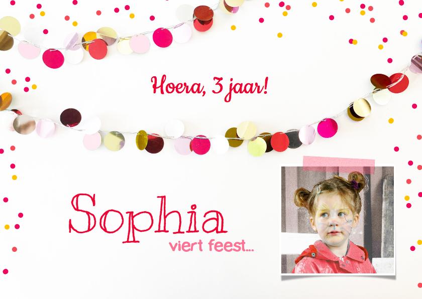 Kinderfeestjes - Kinderfeestje meisje slingers roze