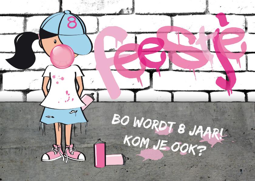 Kinderfeestjes - Kinderfeestje meisje stoer graffiti