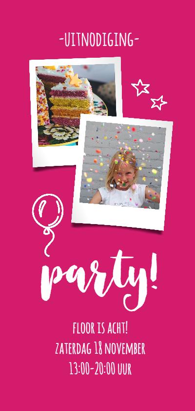 Kinderfeestjes - Kinderfeestje roze langwerpig
