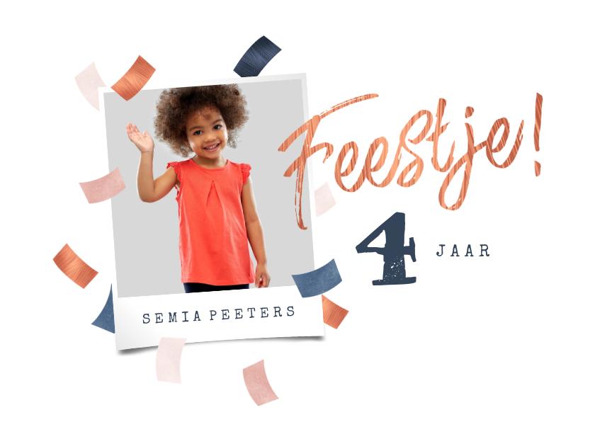 Kinderfeestjes - Kinderfeestje stijlvol confetti feest rosé goud blauw foto