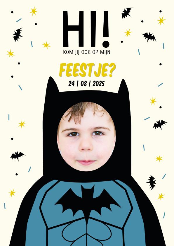 Kinderfeestjes - Kinderfeestje superheld Batman met eigen foto