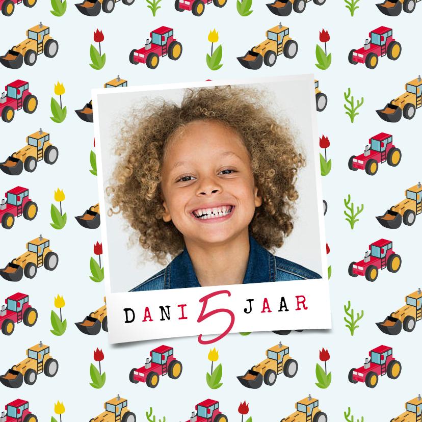 Kinderfeestjes - Kinderfeestje tractor boerderij uitnodiging jongen stoer