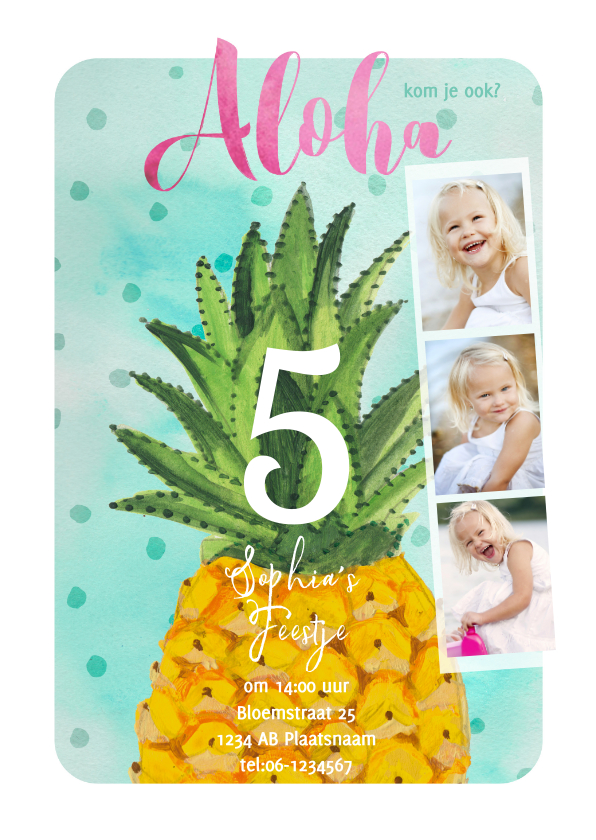 Kinderfeestjes - Kinderfeestje Tropisch Ananas