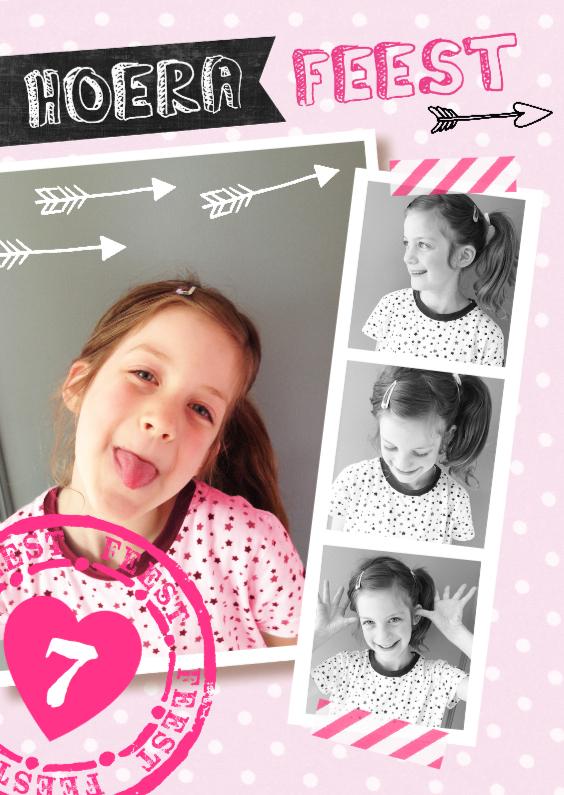 Kinderfeestjes - Kinderfeestje uitnodiging Collage hip en lief