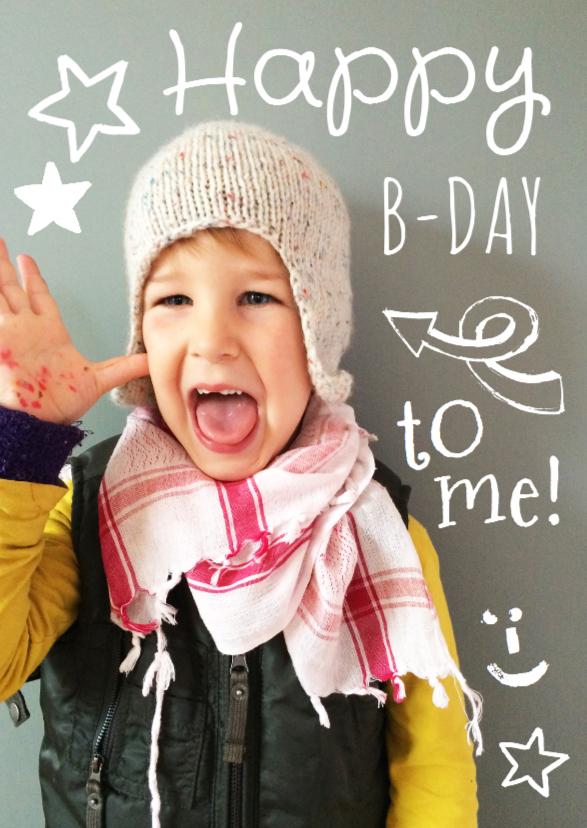 Kinderfeestjes - Kinderfeestje uitnodiging foto happy