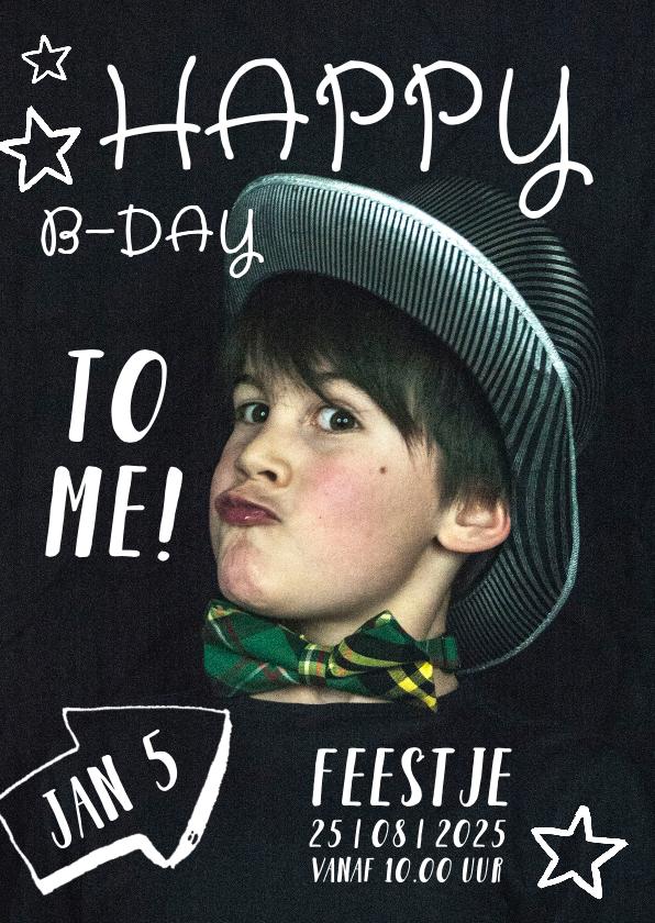 Kinderfeestjes - Kinderfeestje uitnodiging hippe kinderen