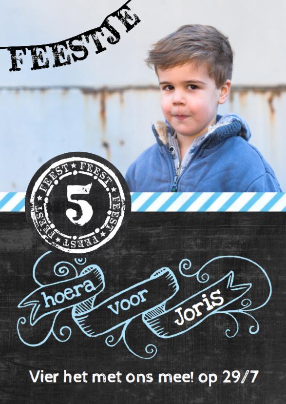 Kinderfeestjes - Kinderfeestje uitnodiging kinderfeest Joris