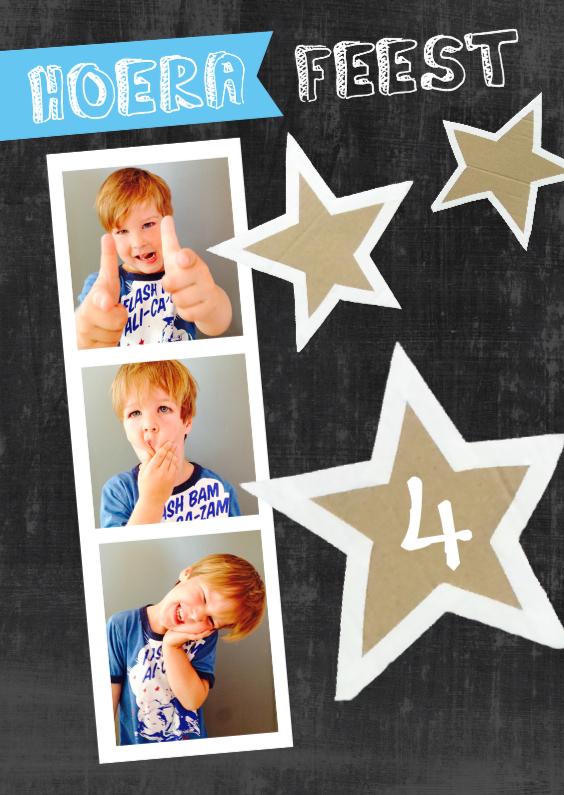 Kinderfeestjes - Kinderfeestje uitnodiging stoere sterren