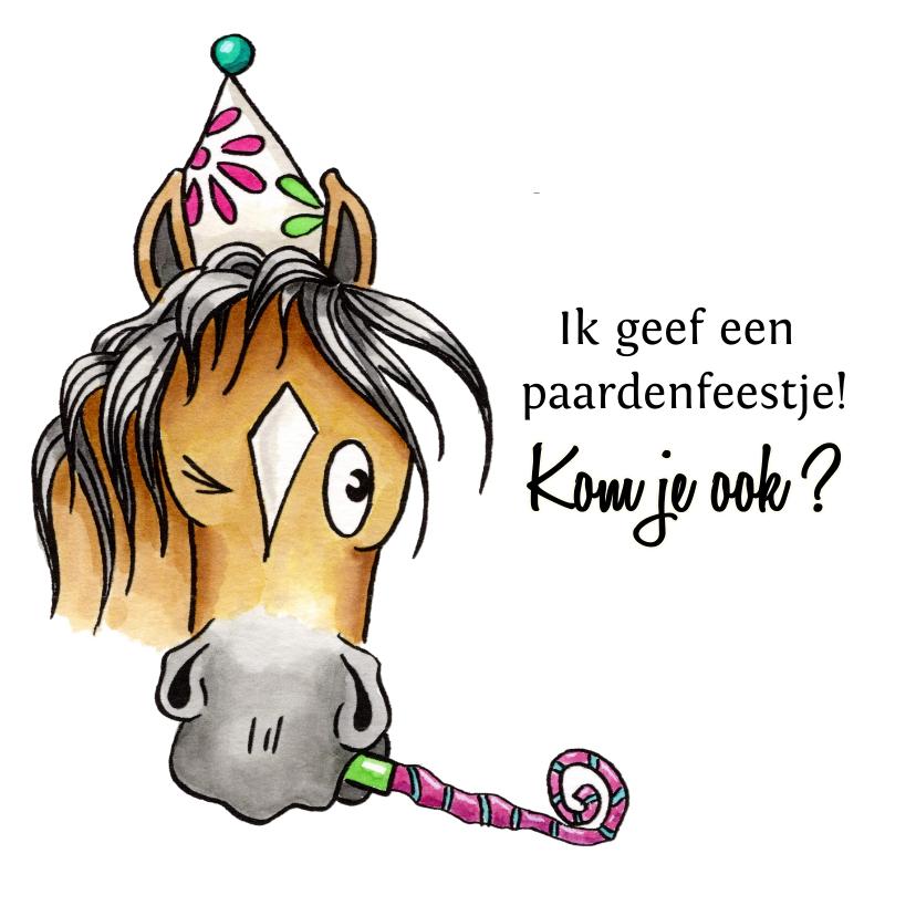 Kinderfeestjes - Kinderfeestje uitnodigingen paardenfeestje