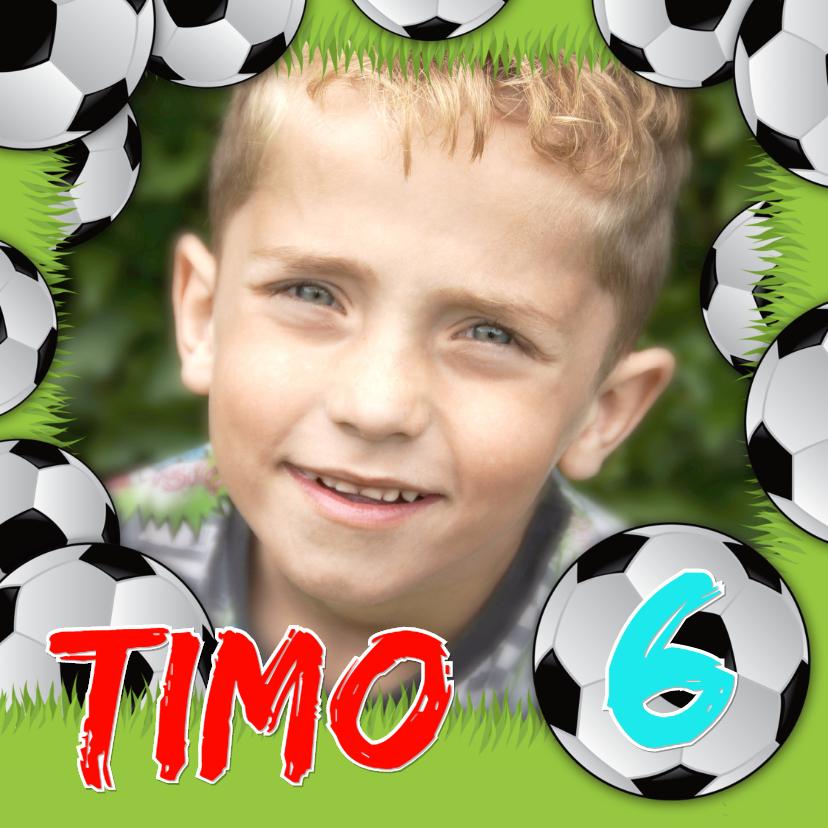 Kinderfeestjes - Kinderfeestje voetbal gras eigen foto naam