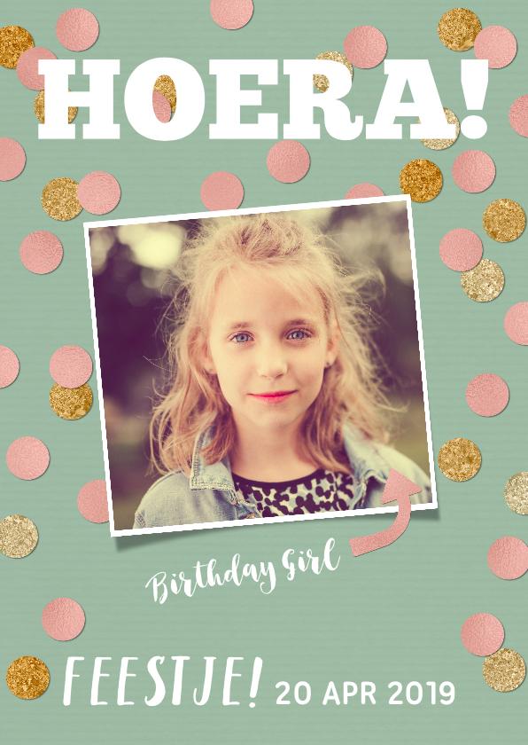 Kinderfeestjes - Kinderfeestje voor meisje met foto en confetti