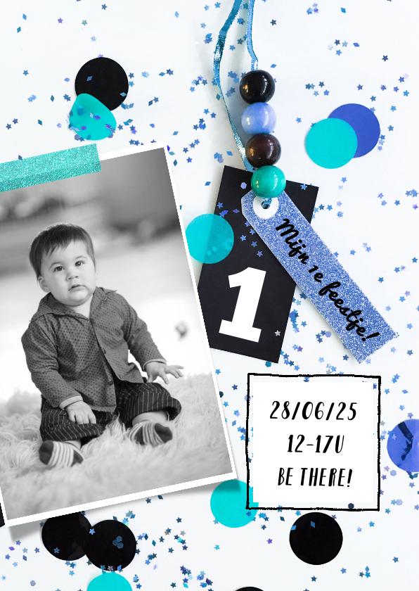 Kinderfeestjes - Kinderfeestje1 jaar confetti boy