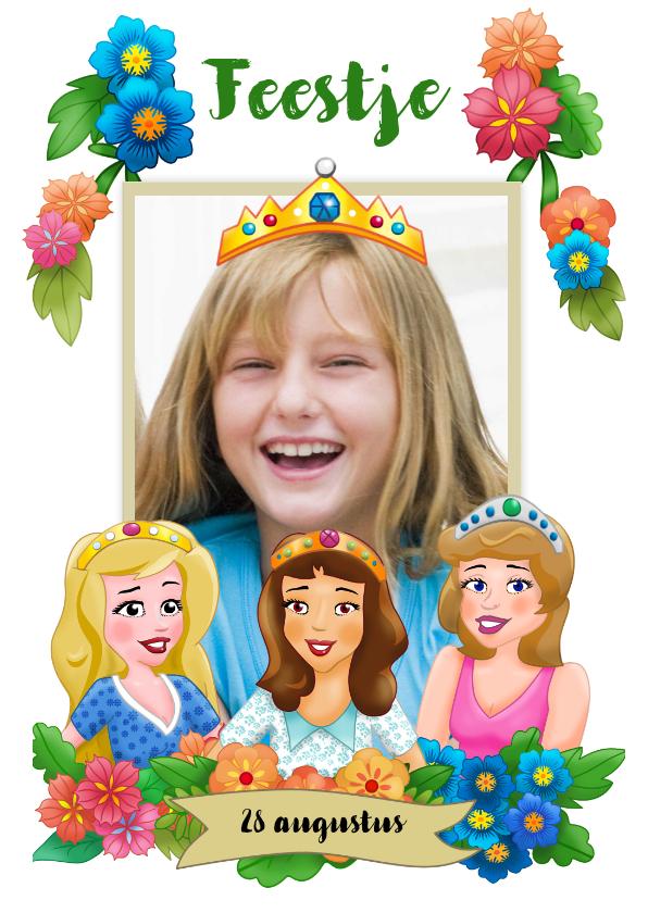 Kinderfeestjes - Leuke uitnodiging voor een prinsessen-feestje
