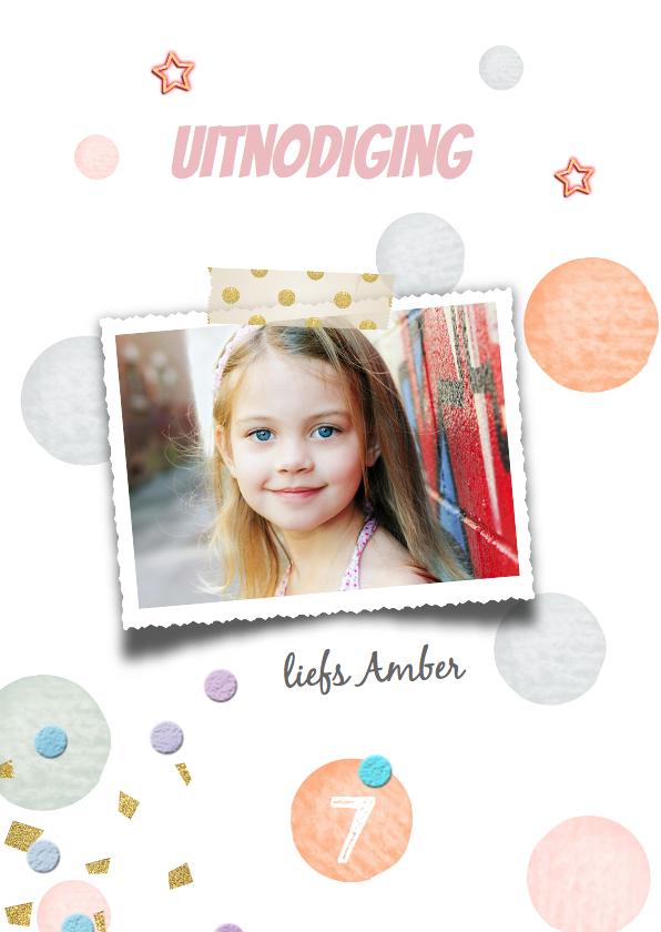 Kinderfeestjes - Lief kinderfeestje meisje- confetti