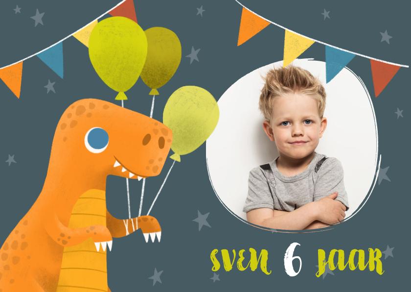 Kinderfeestjes - Stoere uitnodiging voor een kinderfeestje met dinosaurus