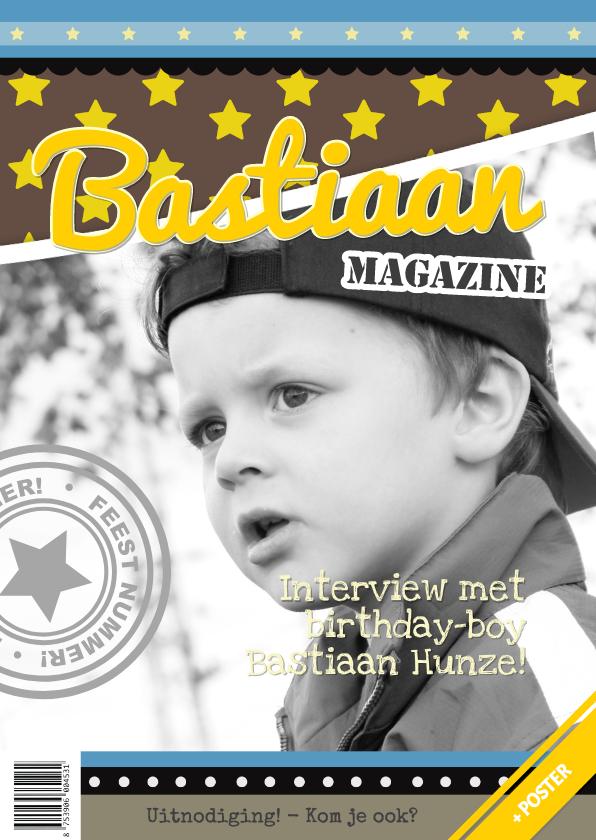 Kinderfeestjes - Tijdschriftkaart Ster Blauw 1LS3