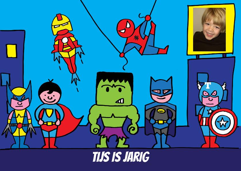 Kinderfeestjes - uitnodiging feest superhelden