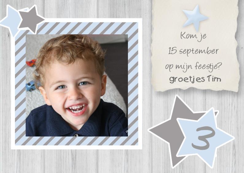 Kinderfeestjes - Uitnodiging feestje jongen ster