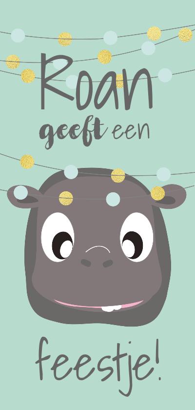 Kinderfeestjes - Uitnodigingskaart leuk en feestelijk met confetti mocards