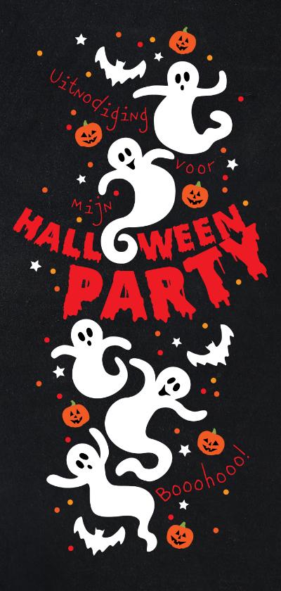 Kinderfeestjes - Uitnodiging Halloween party kinderen