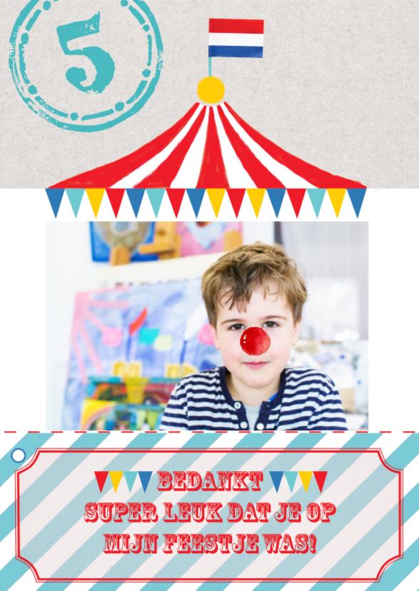 Kinderfeestjes - uitnodiging kinderfeest circus
