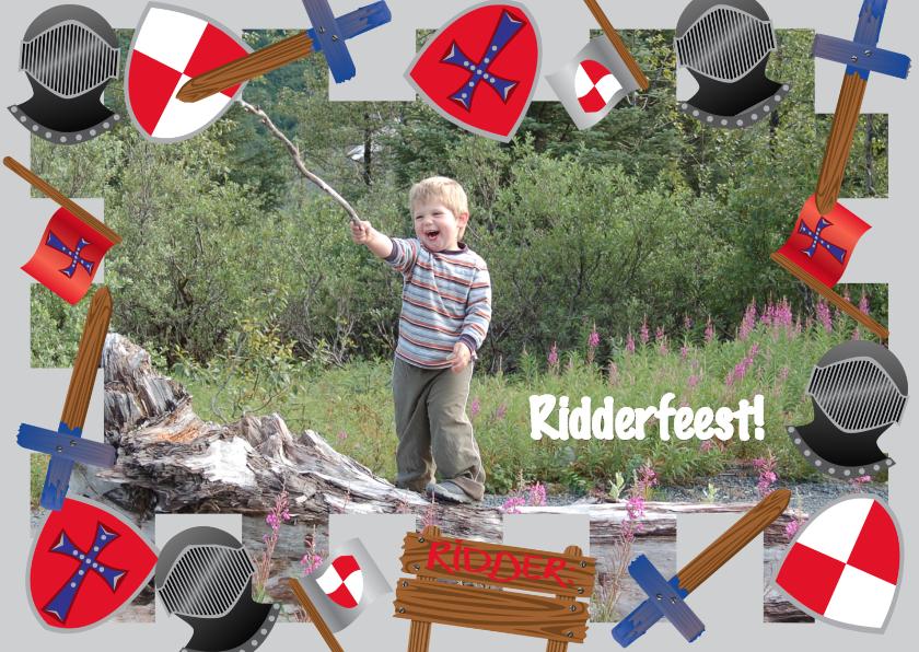 Kinderfeestjes - Uitnodiging Kinderfeest Ridderfeest
