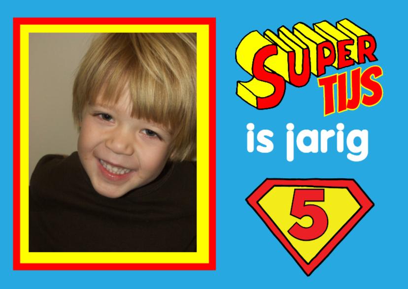 Kinderfeestjes - uitnodiging kinderfeest superman