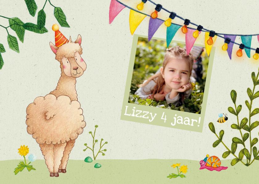 Kinderfeestjes - Uitnodiging kinderfeestje alpaca