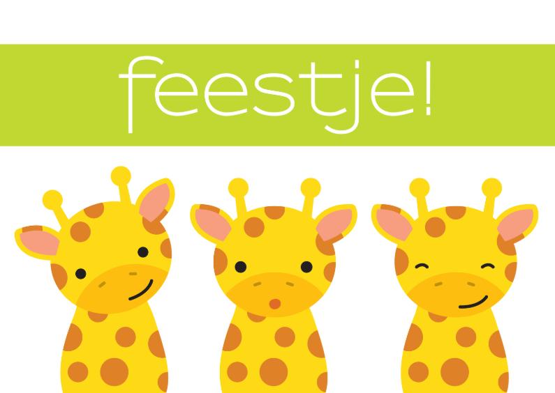 Kinderfeestjes - Uitnodiging Kinderfeestje Giraffe
