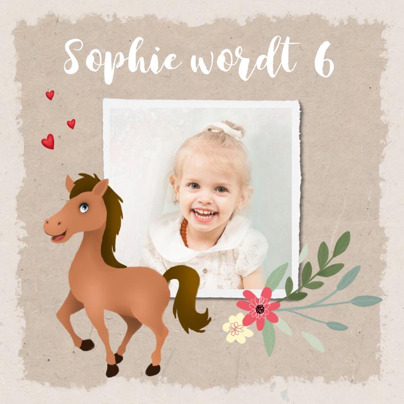 Kinderfeestjes - Uitnodiging kinderfeestje paardje met foto