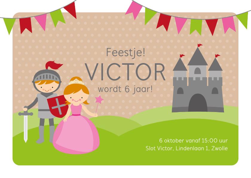 Kinderfeestjes - Uitnodiging kinderfeestje ridders en prinsessen