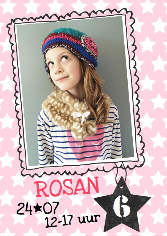 Kinderfeestjes - Uitnodiging kinderfeestje Rosan
