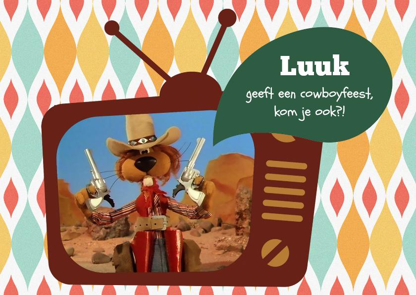 Kinderfeestjes - Uitnodiging Loeki de Leeuw tv -A