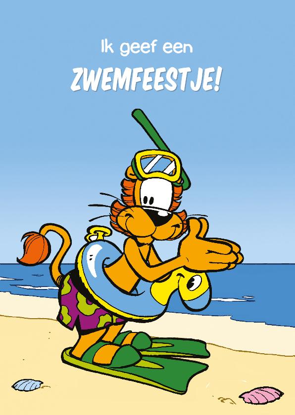 Kinderfeestjes - Uitnodiging Loeki zwemfeest - A