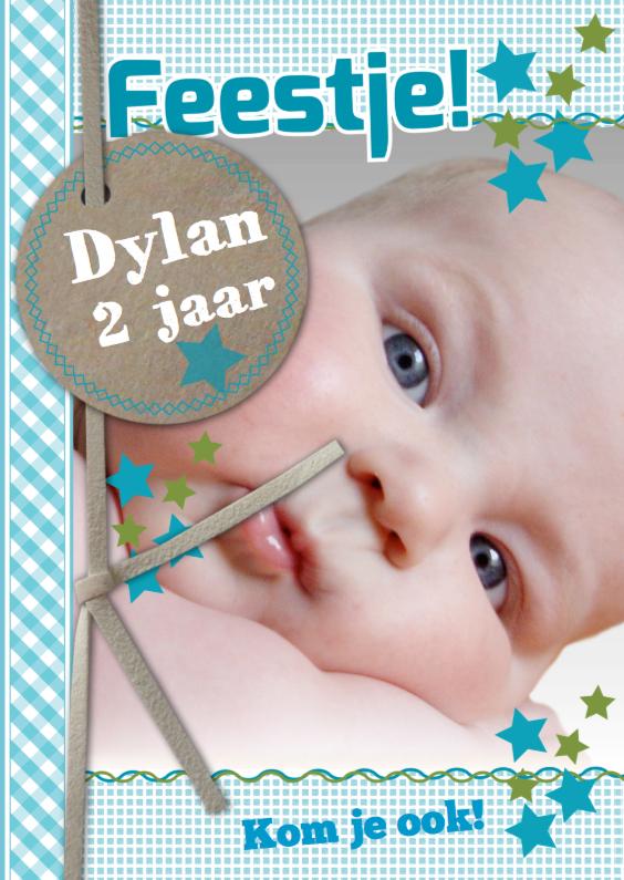 Kinderfeestjes - Uitnodiging Met Foto Dylan